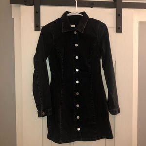 TRF ZARA- Long Sleeve Mini Denim Dress